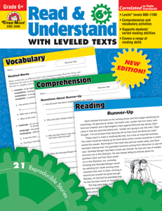 Picture of Read and Understand with Leveled Texts, Grade 6 - Teacher Reproducibles, Print