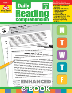 Picture of Daily Reading Comprehension, Grade 3 - Enhanced E-book