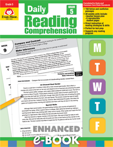 Picture of Daily Reading Comprehension, Grade 5 - Enhanced E-book
