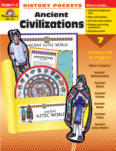 Picture of History Pockets: Ancient Civilizations, Grades 1-3 - Teacher Reproducibles, Print