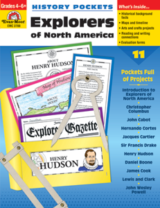 Picture of History Pockets: Explorers of North America, Grades 4-6 - Teacher Reproducibles, Print