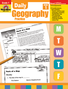 Picture of Daily Geography Practice, Grade 1 - Teacher's Edition, Print