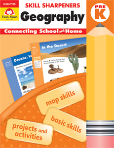 Picture of Skill Sharpeners: Geography, Grade PreK - Activity Book