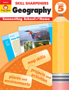Picture of Skill Sharpeners: Geography, Grade 5 - Activity Book