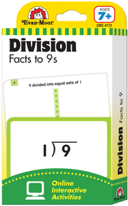 Picture of Learning Line: Division Facts to 9s, Grades 2+ (Ages 7+) - Flashcards