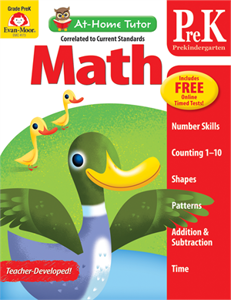 Picture of At-Home Tutor: Math, Grade PreK - Activity Book