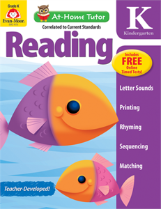 Picture of At-Home Tutor: Reading, Grade K - Activity Book