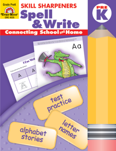 Picture of Skill Sharpeners: Spell & Write, Grade PreK - Activity Book