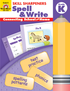 Picture of Skill Sharpeners: Spell & Write, Grade K - Activity Book