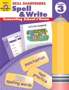 Picture of Skill Sharpeners: Spell & Write, Grade 3 - Activity Book