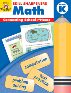 Picture of Skill Sharpeners: Math, Grade K - Activity Book