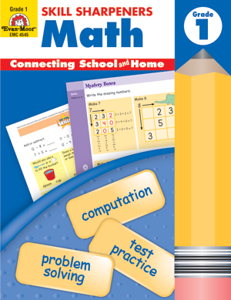 Picture of Skill Sharpeners: Math, Grade 1 - Activity Book