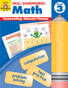Picture of Skill Sharpeners: Math, Grade 3 - Activity Book
