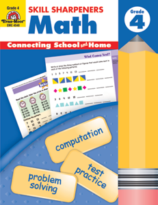 Picture of Skill Sharpeners: Math, Grade 4 - Activity Book