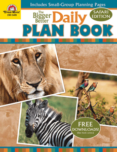 Picture of Daily Plan Book: Safari Edition, Grades K-6 - Teacher Reproducibles, Print