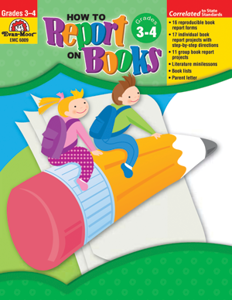 Picture of How to Report on Books, Grades 3-4 - Teacher Resource, Print