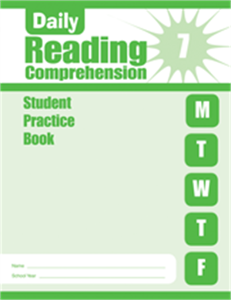 Picture of Daily Reading Comprehension, Grade 7 - Student Workbook (5-pack)