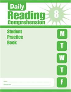 Picture of Daily Reading Comprehension, Grade 8 - Student Workbook (5-pack)