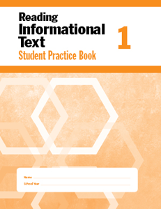 Picture of Reading Informational Text, Grade 1 - Student Workbook