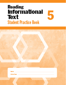 Picture of Reading Informational Text, Grade 5 - Student Workbook