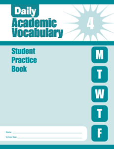 Picture of Daily Academic Vocabulary, Grade 4 - Student Workbook (5-pack)