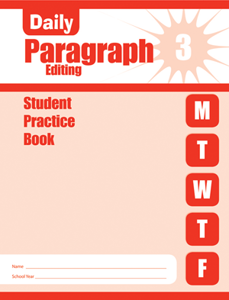 Picture of Daily Paragraph Editing, Grade 3 - Student Workbook (5-pack)