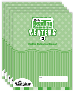 Picture of Daily Reading Comprehension Centers, Grade 3 - Student Response Booklet (5-Pack)