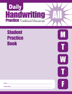 Picture of Daily Handwriting Practice: Traditional Manuscript, Grades K-6 - Student Workbook (5-pack)