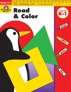 Picture of Learning Line: Read and Color, Grades K-1 - Activity Book
