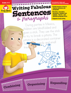 Writing Fabulous Sentences & Paragraphs, Grades 4-6 - Teacher Reproducibles, E-book