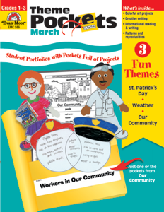 Theme Pockets, March, Grades 1-3 – Teacher Resource, E-book