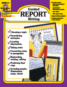Guided Report Writing, Grades 3-6 - Teacher Reproducibles, E-book