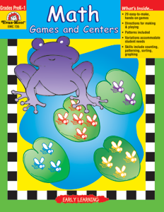 Take It To Your Seat:  Math Centers, Grades PreK-1 - Teacher Resource, E-book