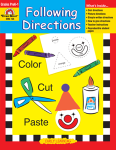 Reading Readiness Essentials, Following Directions - Teacher Reproducibles, Print: E-book