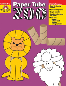 Paper Tube Zoo, Grades K-3 - Teacher Reproducibles, E-book