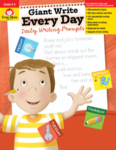 Giant Write Every Day: Daily Writing Prompts, Grades 2-6 - Teacher Reproducibles, E-book