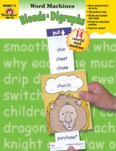 Word Machines: Blends & Digraphs, Grades 1-3 - Teacher Reproducibles, E-book