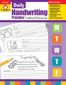 Daily Handwriting Practice: Traditional Manuscript, Grades K-6 - Teacher's Edition, E-book