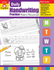 Daily Handwriting Practice: Modern Manuscript, Grades K-6 - Teacher's Edition, E-book