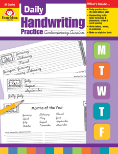 Daily Handwriting Practice: Contemporary Cursive, Grades K-6 - Teacher's Edition, E-book