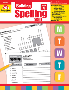 Building Spelling Skills, Grade 4 - Teacher's Edition, E-book