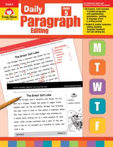 Daily Paragraph Editing, Grade 5 - Teacher's Edition, E-book