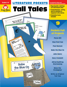 Literature Pockets: Tall Tales, Grades 4-6 - Teacher Reproducibles, E-book