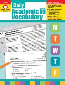Daily Academic Vocabulary, Grade 3 - Teacher's Edition, E-book