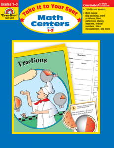 Take It To Your Seat: Math Centers, Grades 1-3 E-book