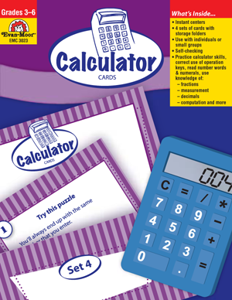 Math Activity Cards, Calculator Cards- Teacher Resource, E-book
