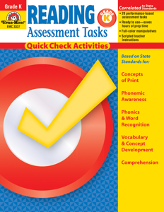 Reading Assessment Tasks, Grade K - Teacher Reproducibles, E-book