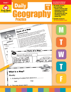 Daily Geography Practice, Grade 1 - Teacher's Edition, E-book