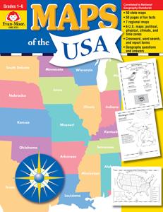 Maps of the USA, Grades 1-6 - Teacher Reproducibles, E-book