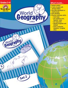 World Geography Cards, Grades 3-6 - Teacher Reproducibles, E-book